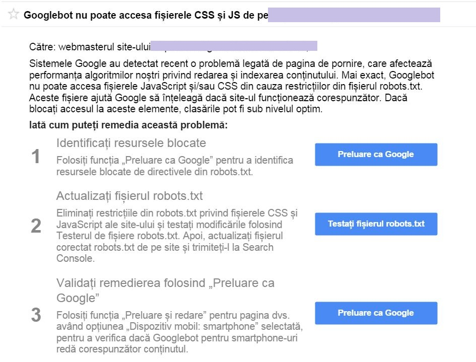 notificare google