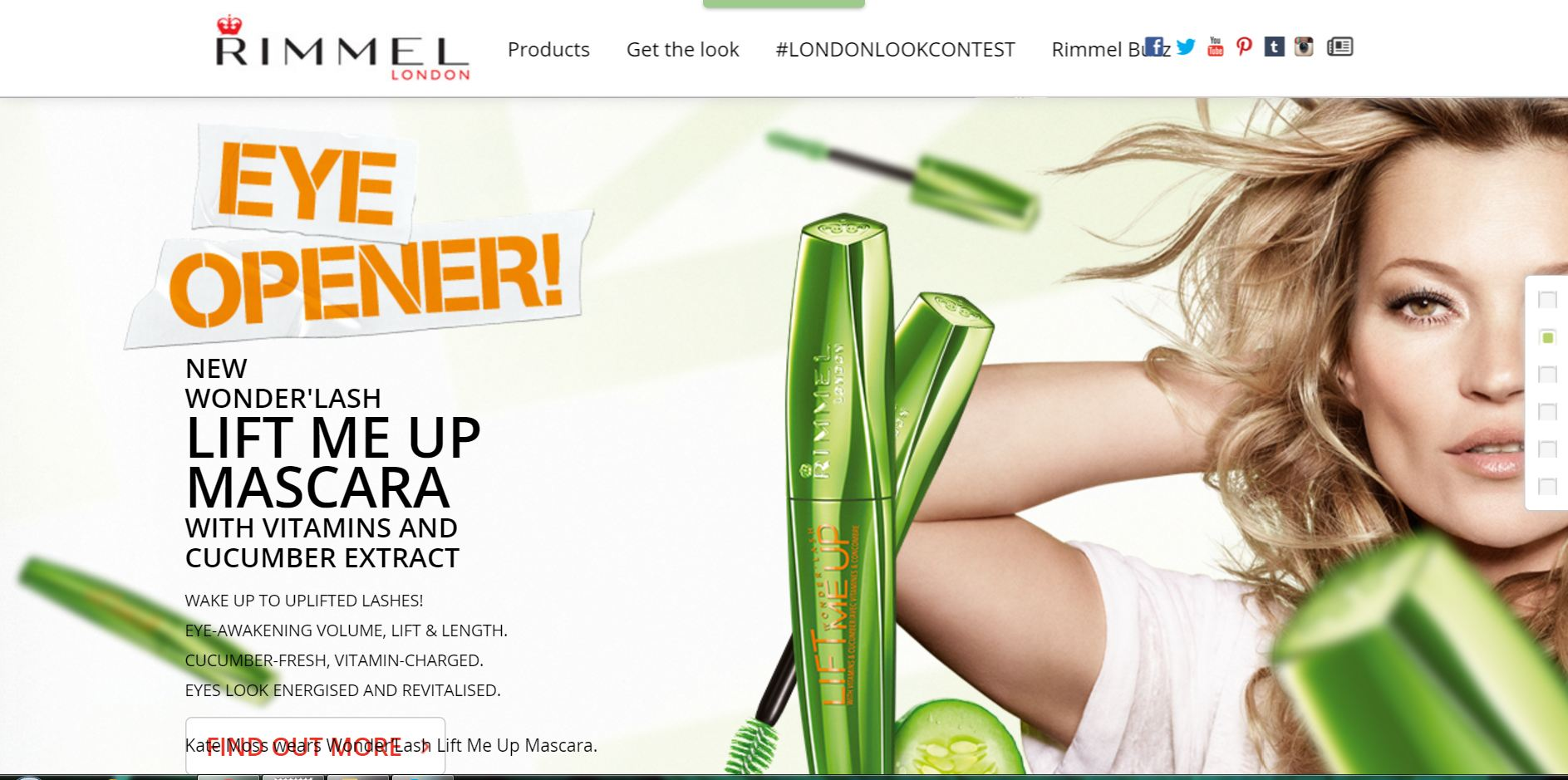 site rimmel london parallax scrolling